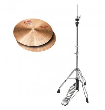 "Paiste 2002 14"" Sound Edge Hi-Hat + HiHat Maschine SET"
