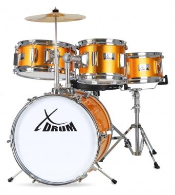 XDrum Junior Kids Drum Set Sunset Gold Sparkle