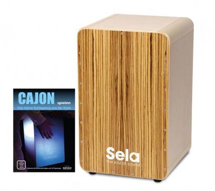 Sela CaSela Cajon Zebrano SET inkl. Cajonschule