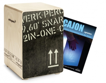 Schlagwerk CP403 Cajon2inOne Black Edition Medium Set inkl. Cajonschule