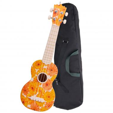 Classic Cantabile BeachBuddy Beachflower Ukulele soprano ABS