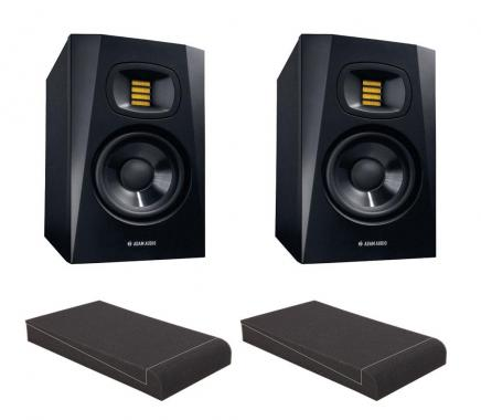"Adam Audio T5V Set mit 5"" Absorberplatten"