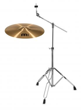 "Meinl Pure Alloy 18"" Medium Crash + Galgenbeckenständer SET"