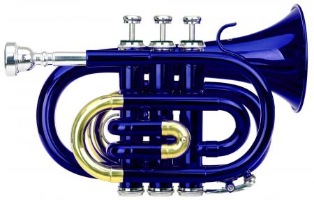 Classic Cantabile Brass TT-400 B-trompette de poche bleu