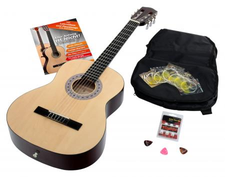 Calida Benita Konzertgitarre Set 3/4 Natur con accesorios