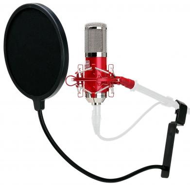 Pronomic CM-100R large-diaphragm studio microphone & pop filter