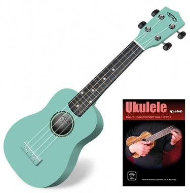Classic Cantabile Soprano US-100 TQ Ukulélé turquoise