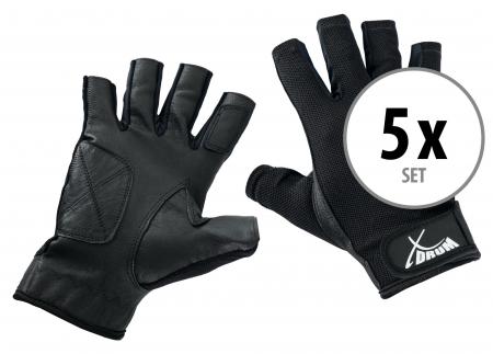 5-Piece Set XDrum Drummer Gloves L short