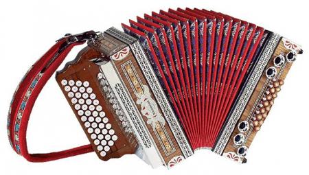 Kärntnerland Klassik Edelholz Nuss Hochglanz Harmonika 4/III F-B-Es-As