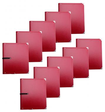 Classic Cantabile B02RD Partition Folder Standard Red 10x Set