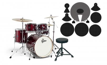 Gretsch Energy Drumkit Red Set mit Dämpferpads