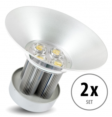 Kit 2 x Showlite HBL-100 COB LED High Bay Faro per capannoni 100W
