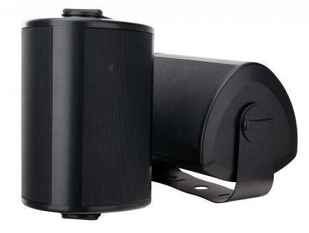 Pair of Pronomic OLS-10 BK Outdoor Loudspeakers black 2 x 100 Watts