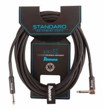 Ibanez SI20L Angled Guitar Cable 6,10m - Black