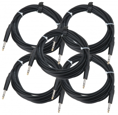 Pronomic Stage INSTS-6 cable clavija jack 6 m estéreo, set de 5 x