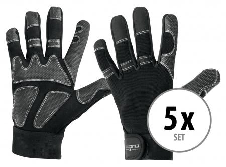 Stagecaptain Rigger guanti M lunghi Set 5 pezzi