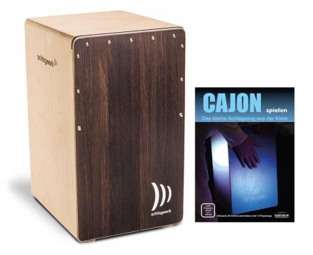 Schlagwerk CP408 ST Cajon 2inOne Dark Oak Soft Touch SET inkl. Cajonschule