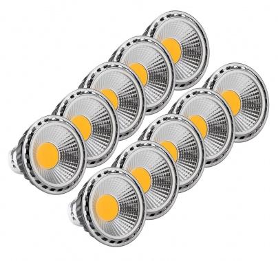 10x SET Showlite LED faretto Spot GU10W05K30N 5 Watt, 330 Lumen, attacco GU10, 3000 Kelvin