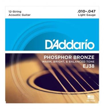 D'Addario EJ38 12-string Light