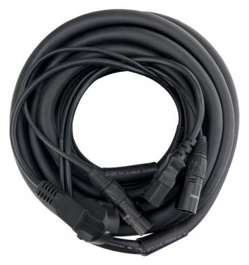 Pronomic Cable híbrido de alimentación / audio XLR 10 m