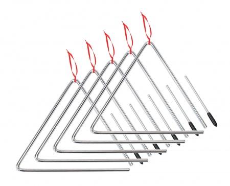 XDrum Triangle de 25cm, SET de5  pièces y compris maillets