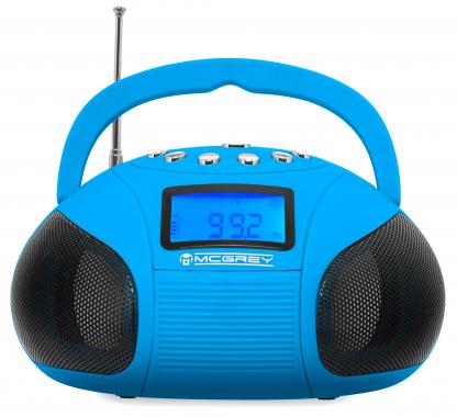 McGrey Boombox MC-50BT-BL Altoparlante Bluetooth con slot USB/SD e Radio FM, blu
