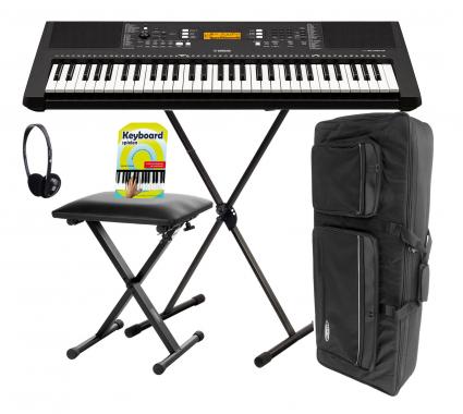 Yamaha PSR-E363 Keyboard, 61 Tasten Deluxe SET mit Ständer und Kopfhörer