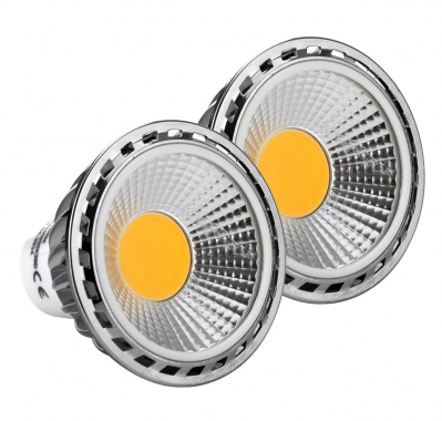 2x SET Showlite LED spot  GU10W05K30D 5 Watt, 330 Lumen, socle GU10, 3000 Kelvin