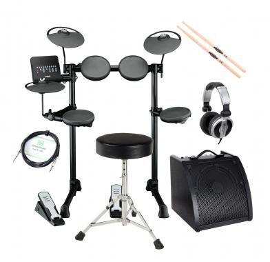 Yamaha DTX400K Compact E-Drum SET inkl. Verstärker + Kopfhörer + Drumhocker + Sticks