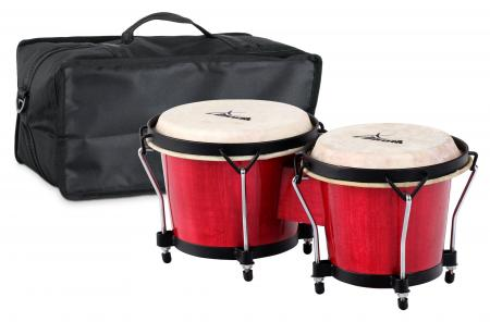 XDrum Bongo Club Standard Wine Red SET incl. Bongo carrying bag