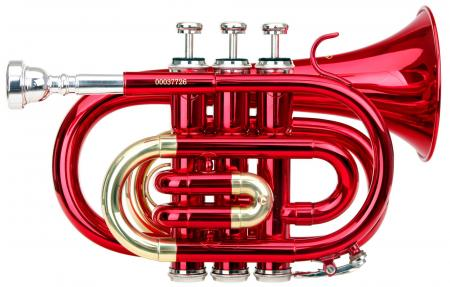 Classic Cantabile Brass TT-400 B-Taschentrompete Rot