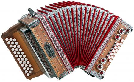 "Alpenklang 3/II Accordion """"Deluxe"""" B-Bb-Ab Walnut"