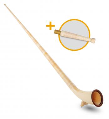 Lechgold Alphorn Deluxe F 360 cm 3-piece Set incl. Bb Hand Tube