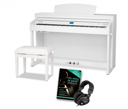 Steinmayer DP-380 WM piano numérique blanc mat SET