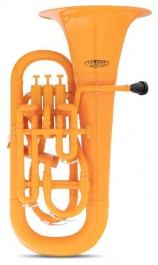 Classic Cantabile MardiBrass plastic Bb Euphonium orange