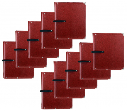 Classic Cantabile B02BR Partition Folder Standard Brown 10x Set