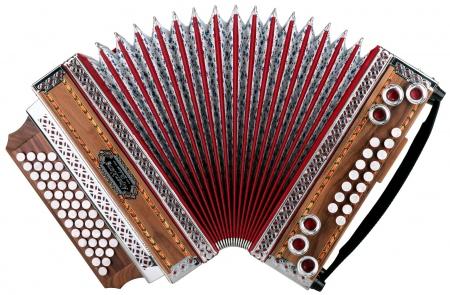 """Alpenklang 4/III harmonika """"Deluxe"""" G-C-F-B met H-bas en mol-bas noot"""