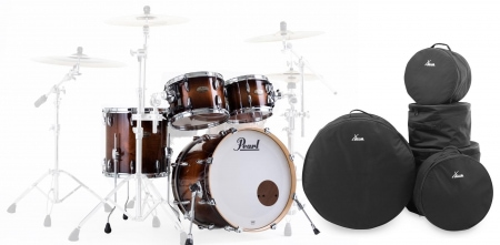 Pearl STS904XP/C314 Session Studio Select Shellset Gloss Barnwood Brown Set mit Taschen