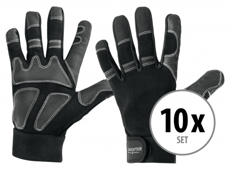 Set of 10 Stagecaptain Rigger Gloves M long