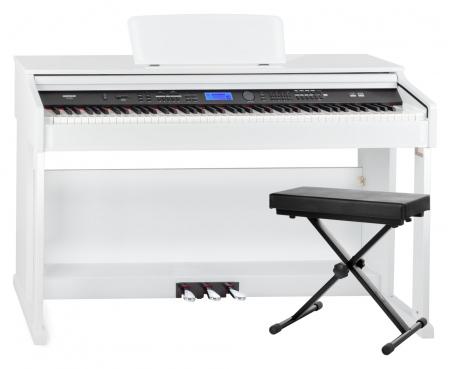 FunKey DP-2688A WH piano numérique blanc brillant banquette set