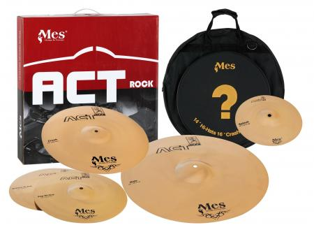 "MES Act Series Cymbals Perfomance-Set + China (14"" HH / 16"" Crash / 20"" Ride / 10"" Splash)"