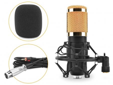 McGrey CM-80B condensateur podcast microphone noir