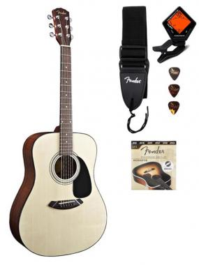 Fender CD-60 Pack Guitarra acústica, color natural