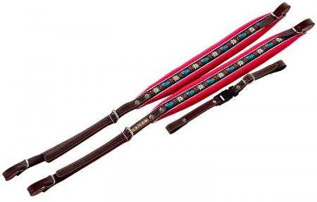 Zupan standard accordion straps, red Edelweiss