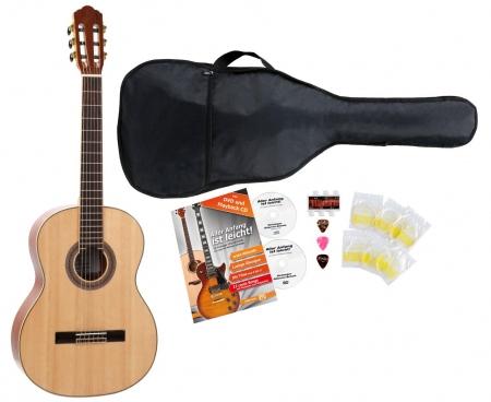 Rocktile CG-40 guitarra de concierto 4/4  set para comenzar incl. 5 piezas de accesorios