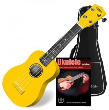 Classic Cantabile US 100 Ye Soprano Ukulele Yellow SET with gig bag