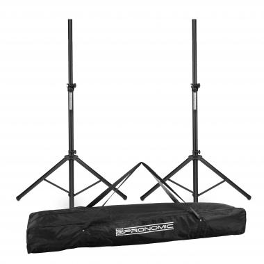 Pronomic PLC-1S speaker stand steel 2x Set with bag