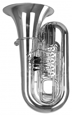 Lechgold BT14/5S Tuba in Bb, silver-plated