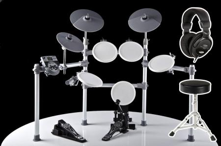 XDrum DD-516 E-Drum complete set including stool + headphones