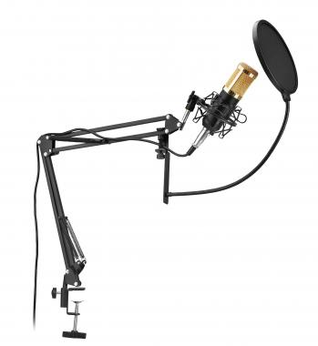 McGrey CM-80B Condenser Podcast Set with Microphone Boom and Pop Killer